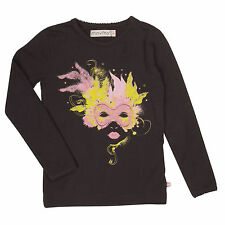 "BNWT ""MINYMO""GIRLS BLACK WITH CARNIVAL MASK PRINT TOP from DENMARK, AGE 7 YEARS"