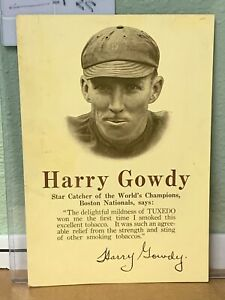 1914 Harry Hank Gowdy Tuxedo Tobacco Store Advertising Sign