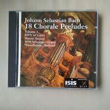 Quad test CD Martin Souter organ Bach Leipzig Chorale Preludes Vol 1 (1-11)