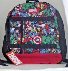 Marvel Avengers Backpack Iron Man Thor Hulk Comics All Over Print Bioworld