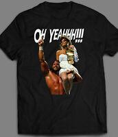 OLDSKOOL 80's WRESTLER & MISS ELIZABETH OH YEAHHH!!! QUALITY Shirt *FULL FRONT*