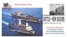 USS NEW YORK LPD-21 Amph Transport Dock Color Photo Cachet with USS Enterprise