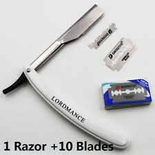 Straight Barber edge Razors Folding Shaving Knife With 10pcs Blades