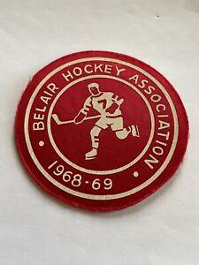 BELAIR HOCKEY ASSOCIATION 1968-69 Hockey Vintage Original Cloth Patch.