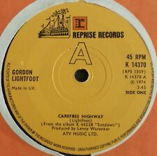 Gordon Lightfoot~Carefree Highway. 1974. Reprise Records - K 14370