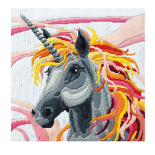 Unicorn Country Threads Long Stitch Kit 30 X 30cm Includes Canvas & Wool
