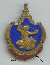 Insigne INDOCHINE , Armée Royale KHMERE  ,(  fond bleu ,  caractères khmer  )