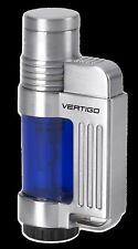 """Vertigo """"Jolt"""" Butane Lighter, Blue, Wind Resistant Torch Flame"""