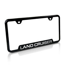 Toyota Land Cruiser Black Stainless Steel License Plate Frame