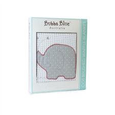 Bubba Blue Blanket Petit Elephant Cot Waffle 100% Cotton White Grey Thermo Pram
