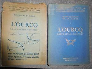WWI 1914 1918 Guide Michelin Marne L'Ourcq Meaux Senlis Chantilly Burckhardt
