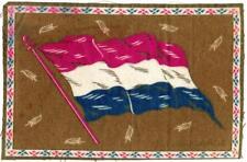"""c 1910 Netherlands Antique Cigarette Tobacco Felt Blanket Flag 8.25"""" x 5.5"""""""