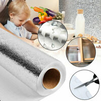 Self Adhesive Waterproof Oil-proof Aluminum Foil Kitchen Cabinet Wall Sticker