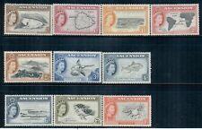ASCENSION 62-71 SG57-66 MH 1956 QEII Defin short set of 10/13 Cat$18
