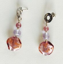 Antica Murrina Solaris--Handmade Adventurine And Murano Glass Bead Earrings