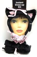 Sexy Plush Kitty Ears Tail Bowtie Black Cat Halloween Costume Kit