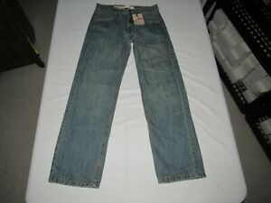 """Levi's Boy's 550 Relaxed Fit Blue Denim Jeans Size 16 Slim W 26"""" L 28"""" NWT"""