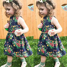 Toddler Kid Baby Girls Summer Floral Dress Princess Party Pageant Casual Dresses