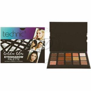 Technic Golden Glow Eyeshadow Palette - Shimmer Sparkle Eyes Bronze Nudes Matte