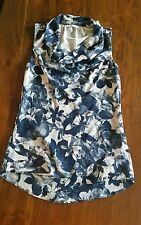 Target women's blue floral top sz6 BNWOT free post D11