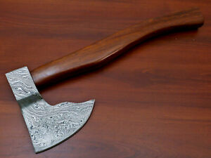 Rody Stan HAND MADE DAMASCUS TOMAHAWK, HATCHET, AXE,INTEGRAL - AD-8269