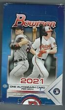2021 Bowman Baseball Factory Sealed Hobby Box 24 Packs Per Box 1 AUTO