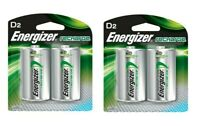 Energizer Recharge NH50BP D Batteries 2 Pack X 2 (4 batteries total)