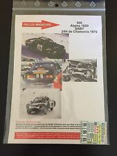 DECALS 1/43 ALPINE RENAULT A110 SABY 24 HEURES CHAMONIX 1976 RALLY RALLYE WRC