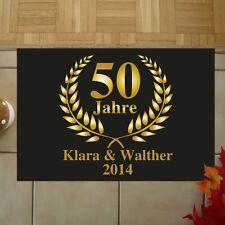 Fußmatte zur goldenen Hochzeit Geschenkidee