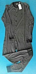 Herren Jack Wills Schlafanzug Gr. M/L Pyjama Einteiler Overall Langarm