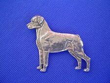 Rottweiler pin STANDING #41A pewter working dog jewelry by Cindy A. Conter