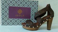 Isola Cognac Croc Print Womens Heels Size 8.5 M
