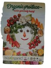 Organic Produce Makes Your Body Happy Poster Vegetable Art 32 x 21 Inch
