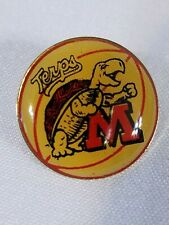 Vintage University Of Maryland Button Pin Terps Terrapins Football