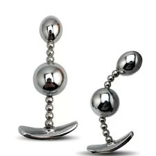 ** LARGE STAINLESS STEEL BENDY METAL_BUTT PLUG TOY_ANAL BEADS ADULT FLEXIBLE **