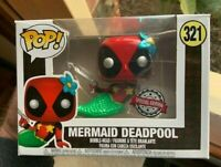 Exclusive Metallic Mermaid Deadpool Funko Pop Vinyl New in Mint Box + P/P