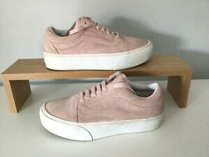 Platform **Vans** Dusty Pink Suede  Size 5, Chunky Retro