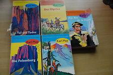 5 Bücher - KARL MAY Ausgabe Oberfläche glatt Old Surehand, Ölprinz, Felsenburg..