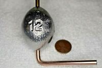 12 oz Egg / Slip Fishing Lead Weights - 7 Sinkers - Free Shipping