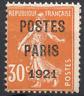 TIMBRE FRANCE Préoblitéré 1920/22  PARIS 1921 n°29 NEUF** Signé CALVES