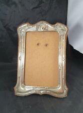 More details for antique silver epns art nouveau wooden backed photo frame - no glass