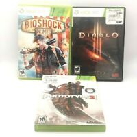 Bioshock Infinite + Diablo III + Prototype 2 Xbox 360 3-Game Bundle Lot