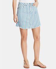 WILLIAM RAST Joey Striped Denim Skirt Size 26