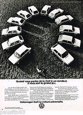 PUBLICITE ADVERTISING 055  1977  VOLKSWAGEN  LA GOLF