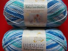 Bernat Baby Coordinates variegated yarn, Buddy Blue, lot of 2 (358 yds each)