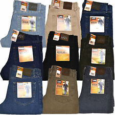 Lee Mens Jeans Regular Fit Straight Leg Pant Trousers 29 30 31 32 33 34 36 38 40