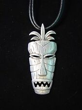 """JJ"" Jonette Jewelry Silver Pewter 'African MASK' 24"" Necklace"