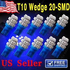 10 x T10 W5W 2825 192 194 168 501 Ultra Blue 20SMD LED Side Wedge Light Bulb 12V