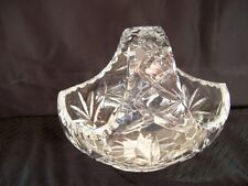 Thomas Webb Crystal Fabian Basket Bowl.