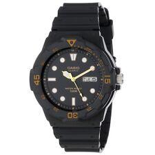 Casio MRW200H-1E Mens 100M Black Diver Classic Sports Watch Resin Band